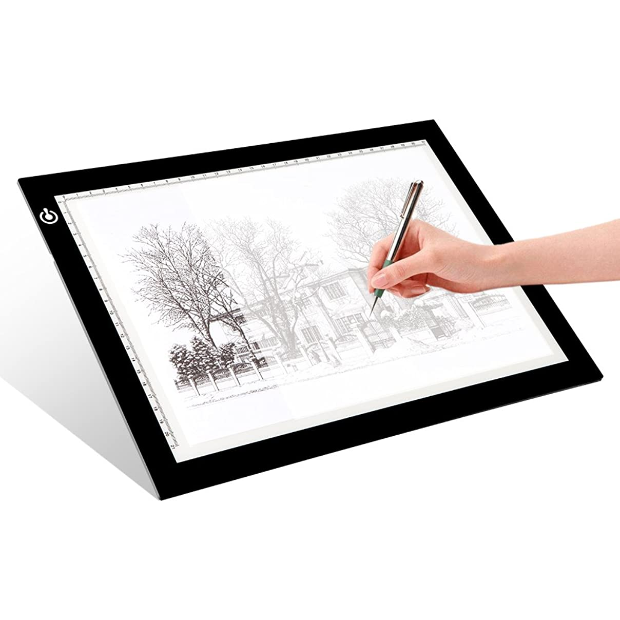 LITENERGY Portable A4 Tracing LED Copy Board Light Box, Ultra-Thin Adjustable USB Power Artcraft LED Trace Light Pad for Tattoo Drawing, Streaming, Sketching, Animation, Stenciling apfsm542931