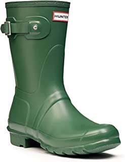 Hunter Womens Original Short Wellington Synthetic Rain Boots