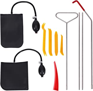 Silkyway Car Tool Kit with Air Wedge Air Pump Bag Long Reach Tools and Non Marring Wedge in a PVC...