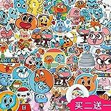 ZZHH SUNYU50 Pegatinas de Dibujos Animados Material de Cuenta de Mano Diario de Crecimiento decoración de...