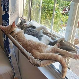 MRIMAYA Cat Bed, Cat Window Perch Window Seat Suction Cups Space Saving Cat Hammock Pet Resting Seat Safety Cat Shelves - ...