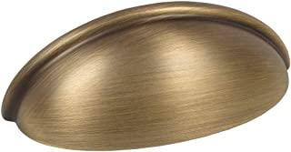 10 Pack - Cosmas 783BAB Brushed Antique Brass Cabinet Hardware Bin Cup Drawer Cup Pull - 3
