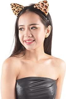 Cute Sexy Attractive Cat Ear Leopard Headband Costume Accessory/Fancy Dress White, Brown