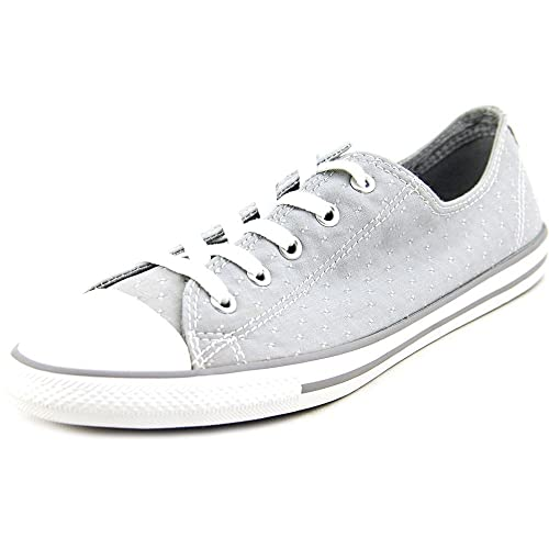 Converse Chuck Taylor All Star Women s Dainty Ox Dolphin Grey Stitched  Pattern 547308F 84d741d45