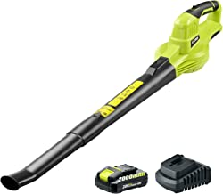 CACOOP Cordless Leaf Blower/Sweeper with Battery and Charger,Handheld Battery Powered Leaf Blower Lightweight Portable for...