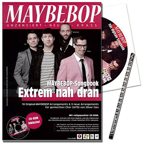 Maybebop Songbook - Extrem nah dran mit CD, Finale NotePad 2012, MusikBleistift - 9783938259559