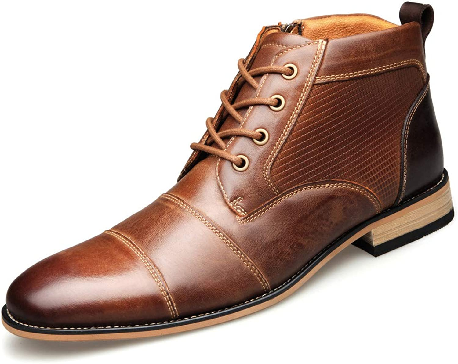 Mens Chukka Boot Dress shoes Strap Cap Toe Boot Formal Casual Oxford Ankle Boot