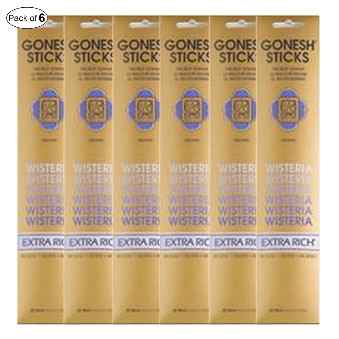 薬剤師引っ張る保持Gonesh Incense Extra rich- Wisteria ( 20?Sticks in 1パック) (パックof 6?)