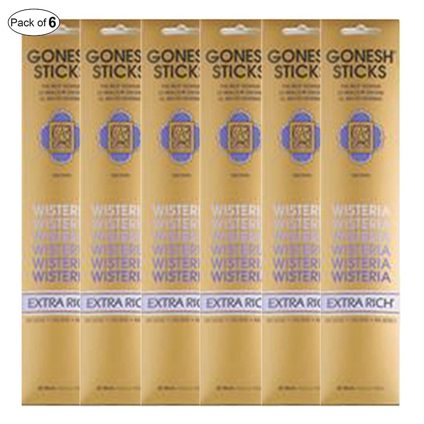 期限薄い組み合わせるGonesh Incense Extra rich- Wisteria ( 20?Sticks in 1パック) (パックof 6?)