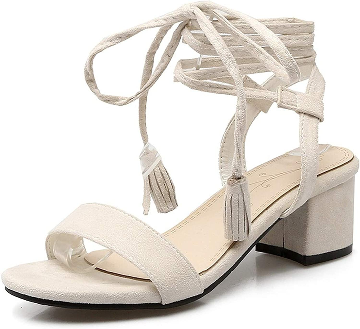 Heart to Hear Plus Size 34-47 Summer shoes Woman lace-up high Heels Sandals Women,