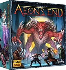 Aeon's end is a cooperative deck building game for 1-4 players that feels like an epic video game boss battle Your deck is never shuffled, a variable player order simulates the chaos of battle, and deck management makes all of your decisions meaningf...