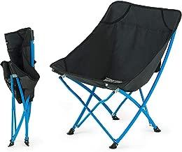Nai-Style Klappstuhl Angeln Stuhl-Sitz Hocker Picknick Strand Stuhl mit R/ückenlehne Aufbewahrungstasche f/ür Outdoor Angeln Camping Garten