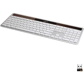 Logitech K750 Wireless Solar Keyboard for Mac — Solar Recharging, Mac-Friendly Keyboard, 2.4GHz Wireless - Silver