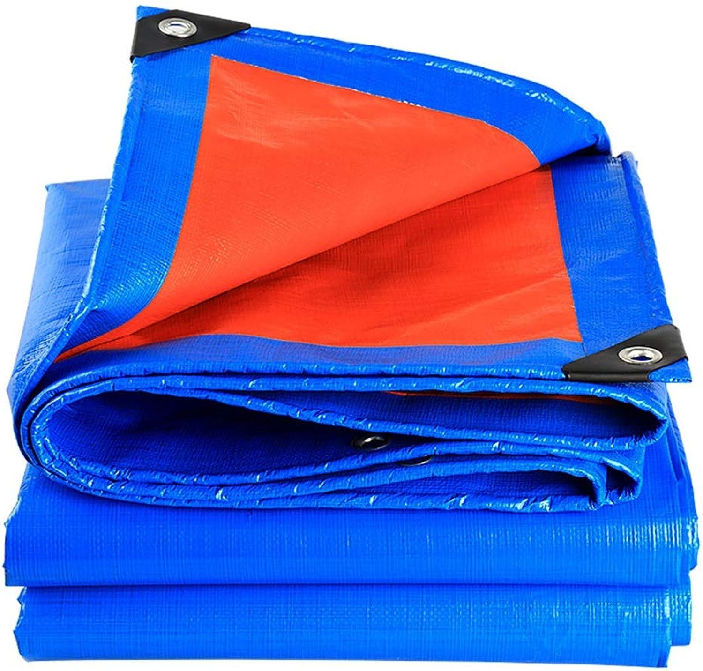 Tarpaulin Tarpaulin Thick Rain Cloth Sunscreen Tarpaulin Ultra Light Cargo Car Sunshade Awning Cloth Plastic Canvas Oil Cloth Camping Shelters (color   blueee, Size   300  400cm)