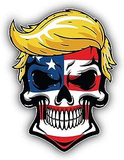 Trumpisher Qanon Donald Trump Skull American Flag Sticker Art Decal