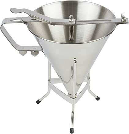 Confectionery Funnel Stainless Steel Funnel With Three Nozzles And Stand Professional Commercial Cake Decorating Tool Funnel