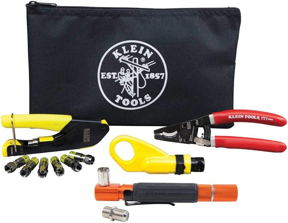 RG6 Max 55% OFF 6Q Coaxial Fresno Mall Cable Install Kit Tester with F-Connectors and I