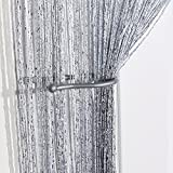 John Aird Jazz Glitter String Curtain Panel (Silver)