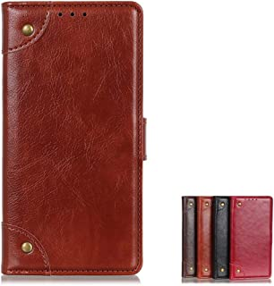 Wallet Case for OnePlus Nord N10 5G Flip Case Leather Wallet Card Cover Compatible with OnePlus Nord N10 5G (Brown)