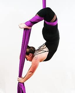 F.Life Aerial Silks Equipment- Medium Stretch Silk for Acrobatic Dance Aerial Yoga Hammock, 10 Meters Long