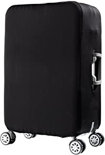 Spandex Travel Luggage Organizers Suitcase Dust Cover Trolley Protector Fits 28 To 30 Inch Baggage Case Sleeve Print Black