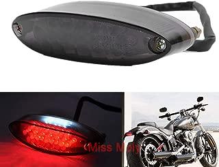 GOOFIT Chrome Motorcycle plaque de frein Double ampoule arri/ère Indicateur de frein Phare arri/ère avec lampe de secours clignotants int/égr/és Gris pour Scooter V/élo VTT