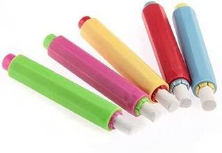 5pcs Chalk Holder gripper saver Case Plastic Case for School Office 9.5x1.5cm
