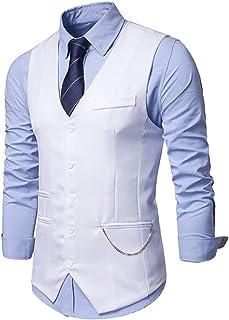 Men's Waistcoat Vintage Business Casual Suit Vest Gilet Waistcoat Wedding Suit Tops Skinny Vest Males Classical Suit Gilet...