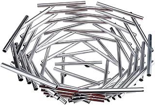 Up Fruit Bowl en acier inoxydable Creative Fruit Bowl Accueil Fruit Basket en trois dimensions Nid d'oiseau Compartiment F...