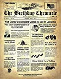 THE BIRTHDAY CHRONICLE NEWSPAPER 11x14 Inch, 1/1/1900 to 12/31/2016, Thick Cardstock or Photo Paper 'Customize Now'