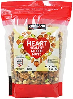 KIRKLAND SIGNATURE Heart Healthy Mixed Nuts, 36 Ounce, 2.25 Pound (Pack of 1)