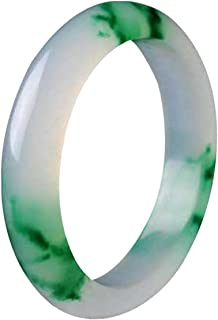 yigedan Natural Quality Chinese Green Jade Jadeite Bangle Blue Flower Bracelet