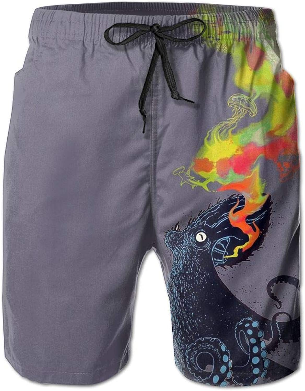 6098148ad0 Quick Dry Men's Beach Board Shorts Magic Octopus Octopus Octopus Surfing Swim  Trunks Beachwear With Pockets 161a68