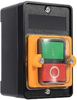 Verriegelnder Drucktastenschalter, Keenso EIN/AUS Wasserdicht Öldichter Drucktastenschalter Kippschalter Selbsthemmend Automatisch Zurücksetzen Werkzeugmaschinenzubehör