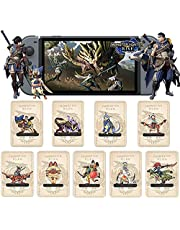 9PCS per Monster Hunter Rise NFC Amiibo Mini Card, composto da: Palamute, Palico, Magnamalo, per Switch/Switch Lite/New 3DS / Controller Nintendo Switch