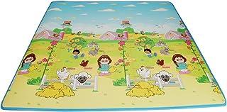 Fisher Price 费雪 韩国进口加厚双面宝宝爬行垫 婴儿游戏垫BMF22 (180*200*1cm)  (新老包装随机发货)