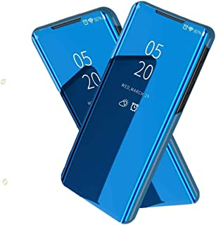 nh Case Oppo Realme C3 Mirror Case, 360 Degrees Protective Slim Fit Electroplate Standing Case PC Flip Cover + Tempered Gl...