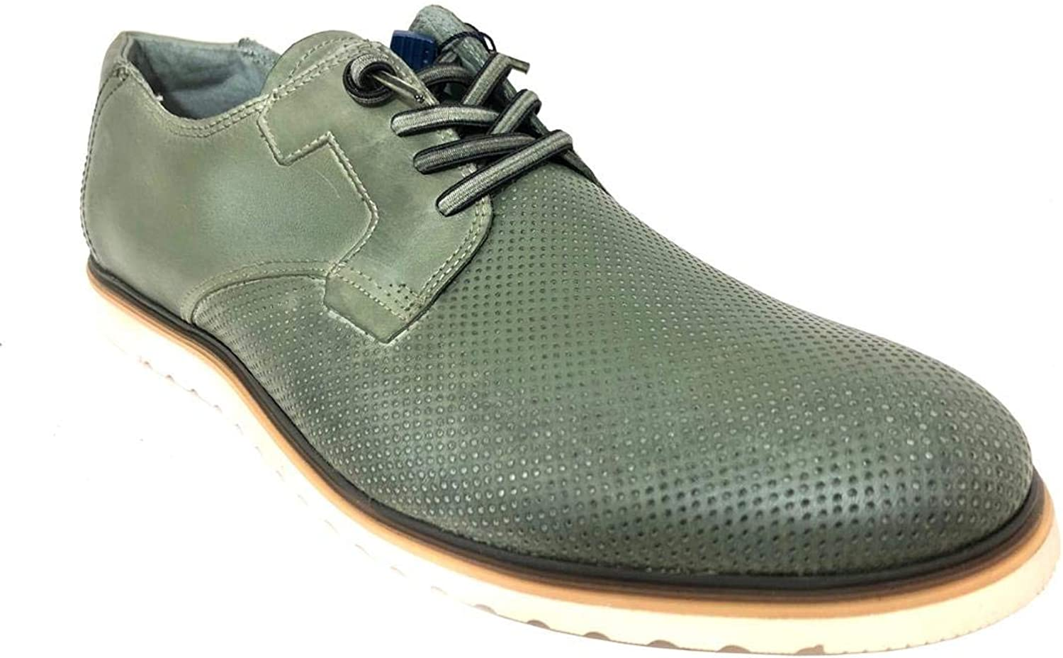 Cetti C1144, Leather Derby shoes for Men, Green