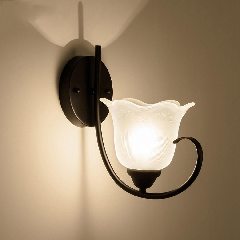 GBT American Wall Lamp Bedside Lamp Bedroom Iron Single Head Lighting Village Retro Hotel Wall Lamp Corridor Aisle Lamps