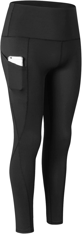 RoxZoom レディース フィットネス 伸縮性 速乾 タイトフィット スポーツパンツ ワークアウト レギンス ズボン ポケット付き ランニング ヨガ ジョギング