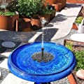 MASO Solar Powered Pond Fountains Solar Pond Pump 5V 2.5W More Powerful Floating Fountain Pump Kit for Bird Bath Pond Pull Garden from MASO
