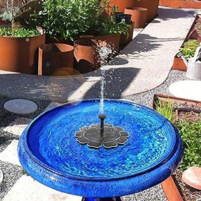 MASO Solar Powered Pond Fountains Solar Pond Pump 5V 2.5W More Powerful Floating Fountain Pump Kit for Bird Bath Pond Pull Garden from MASO