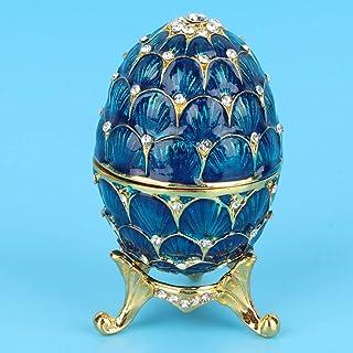 Sutinna Organizador de Joyas de aleación de Zinc de decoración del hogar, Caja de Huevo de Pascua Coleccionable de Huevo e...