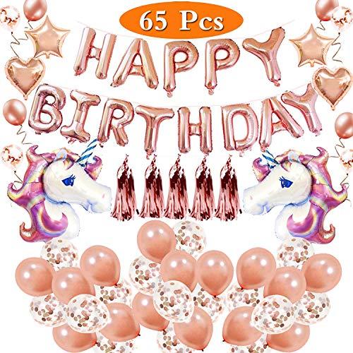 HusDow Confezione da 4 40 coriandoli Dorati in Lattice 10 coriandoli 70 Pezzi 4 Rotoli di Nastro per Palloncini Striscione Decorativo per Compleanno