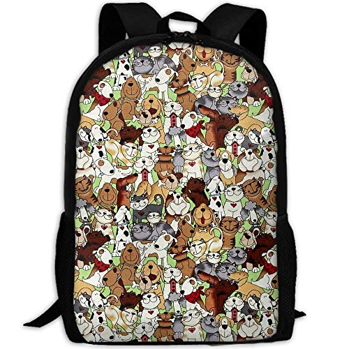 TRFashion Stylish Love is A Four Legged Word Dogs Cats Laptop Backpack School Backpack Bookbags College Bags Daypack Black Casual Leisure Backpack Swagger Bags Rucksack
