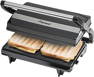 Bestron Presse-panini, Antiadhésif, 700 W, Noir