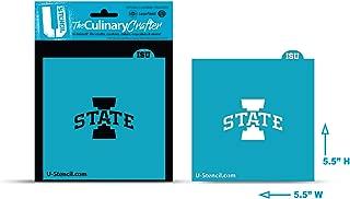 U-STENCIL ISUOOS-401 NCAA Iowa Cyclones Collegiate 'I State Crafter Culinary Stencil, One Size, White