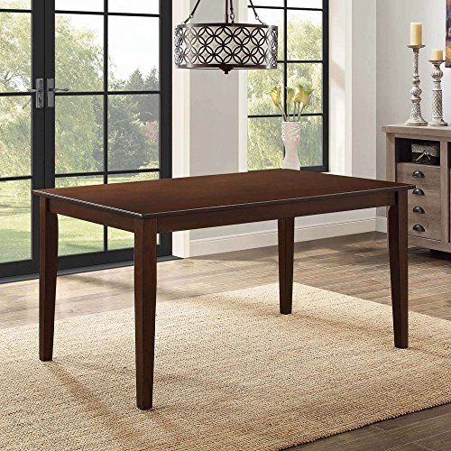 Better Homes and Gardens Bankston Brown Rectangle Honey Finish 6-Person Dining Table, 58.5L x 35.5W x 30H by Better Homes and Gardens (Espresso)