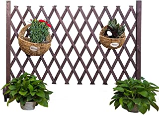 Garden Fence Outdoor Expanding Fence Solid Wood Garden Screen Decor Animal Barrier Courtyard Plants Growing Aid,3 Colour (...