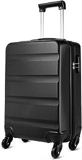 Kono Maleta para Equipaje de Cabina Ligera Trolley de ABS con Ruedas de 55 x 38 x 20 cm, Negro